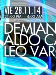 Demian Muller + Aldo Cadiz + Leonardo Vargas en MAMBA (23:00 A 05:00)