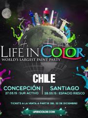 """Life in Color """"World's Largest Paint Party"""" Chile"""
