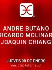 André Butano, Ricardo Molinari, Joaquín Chiang @ Club La Feria ~ Jueves 08.01