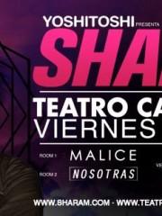 SHARAM – Viernes 13 Marzo @ TEATRO CAUPOLICAN