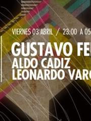 Gustavo Ferrante (Arg), Aldo Cadiz y Leonardo Vargas en MAMBA