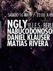Ngly (L.I.E.S.- Berlin), Nabucodonosor Live, Daniel Klauser y Matías Rivera en MAMBA