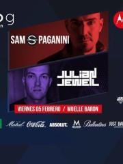 MOTOROLA presenta ♫ SAM PAGANINI & JULIAN JEWELL ♫ VIERNES 5 DE FEBRERO – DECK MUELLE BARON – 21:00