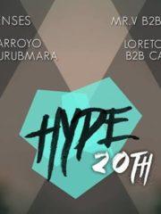 HYPE – Celebración Edición 20 – Miércoles 25 de Mayo Club Eve