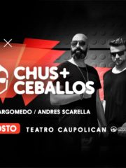 MOTO X presenta: ♫ Chus + Ceballos ♫ Jueves 25 De Agosto / Teatro Caupolican – 21:00