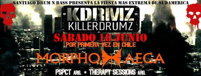 SANTIAGO DRUM N BASS PRESENTA: KILLERDRUMZ CHILE