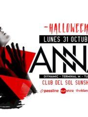 Corona presenta: ♫ ANNA ♫ / Lunes 31 de octubre/ Sunshine