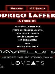 Rodrigo Laffertt en Naveluna, Santiago! Viernes 2 de junio